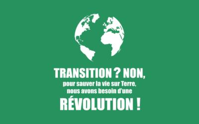 La transition est morte. La révolution est vitale. Vive la révolution !